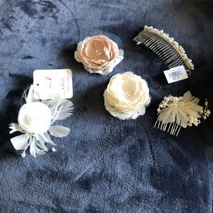 5 hairpins! Delicate bridal hair accessories